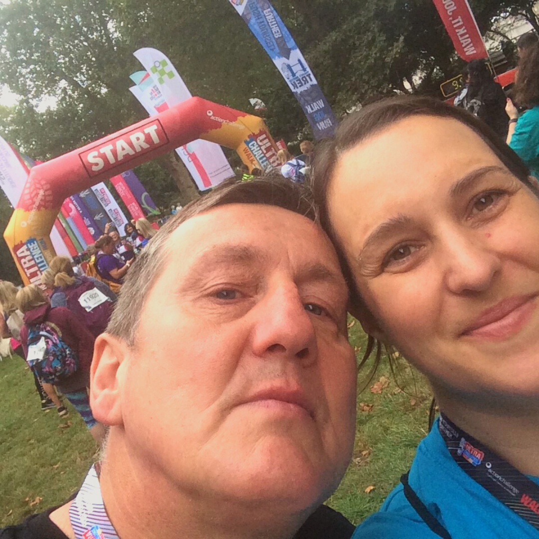 Anna at the finish line of the Thames Trek challenge