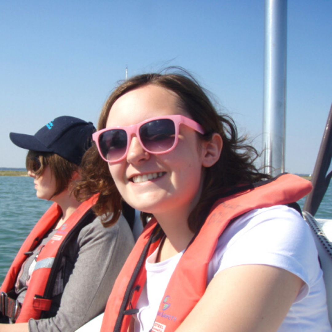 Chloe sailing on her first Trust trip