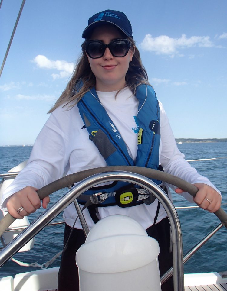 Iona Sutherland the winner of the national Musto competition in partnership with the Ellen MacArthur Cancer Trust