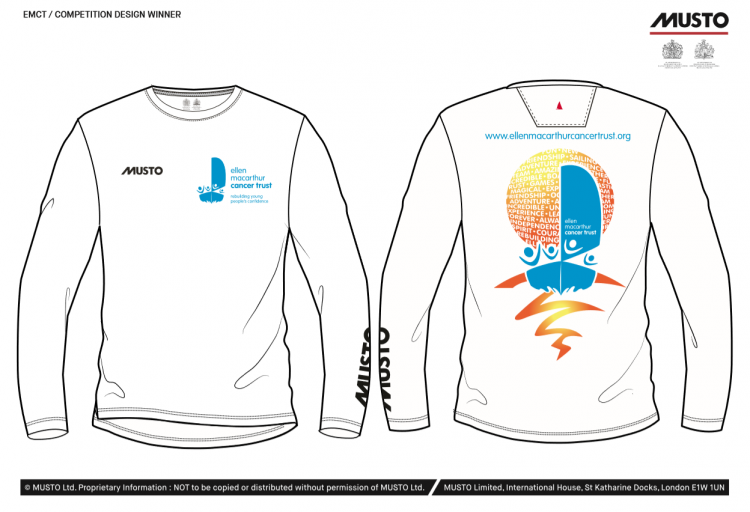 The winning design of the Musto T-shirt Competition