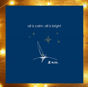 all is calm, all is bright, christmas card