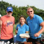Chris Evans joined an Ellen MacArthur Cancer Trust trip BBQ in Lymington in August 2018