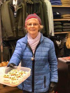 June Howard winner of the Jingle Bell Walk mince pie competition