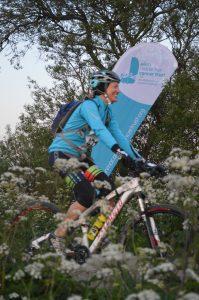 Cycling at the Ellen MacArthur Cancer Trust's Night Rider Night Runner event