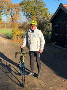 Ellen MacArthur Cancer Trust Trustee Peter Cazalet in training for the Largs to Cowes Charity Cycle