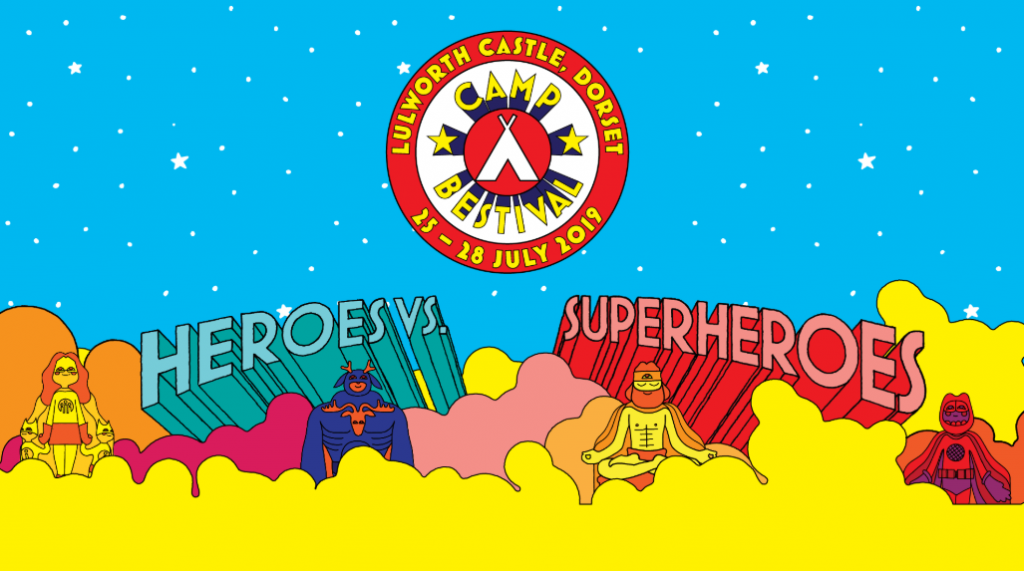 Camp Bestival Superhero theme is ther perfect fit for the Ellen MacArthur Cancer Trust
