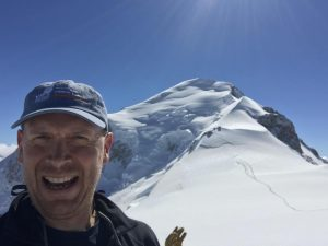 Trustee Martin Pluves scaled Mont Blanc in 2018