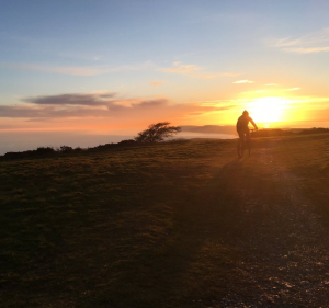 Epic sunsets from the Trail Festival site at Cheverton Farm on the Isle of Wight