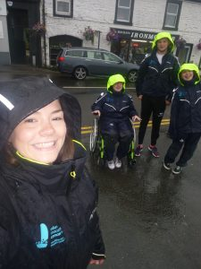 Rosa volunteering on a Trust trip in Largs last summer