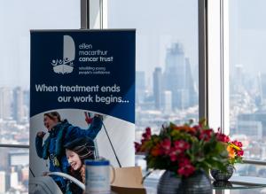 Ellen MacArthur Cancer Trust setting up for the BT Tower Fundraiser day