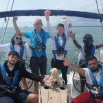 Joe Burnie volunteering on an Ellen MacArthur Cancer Trust trip last summer