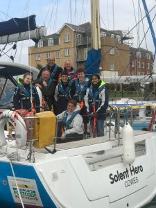 On the water volunteer training on the Isle of of Wight