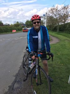 Chris Goodacre joined the Largs to Cowes Charity Cycle Challenge