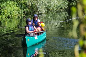 Canoeing during Ellen MacArthur Cancer Trust residential trip at Essex Outdoors Center