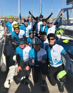 The Largs to Cowes core team picture in Largs Yacht Haven