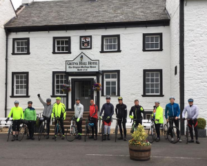 The riders arrived in Gretna Green