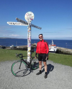 Seamus started his cycle in John O'Graost before meeting the Largs to Cowes riders