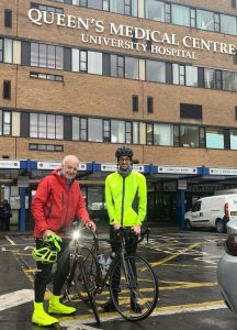 Tom Roberts and Professor David Walker who treated him at the Queens Medical centre