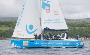 Young people set sail on Caledonian Hero in Largs with the Ellen MacArthur Cancer Trust this week
