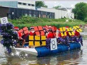 Santa Raft Race