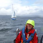 Largs volunteer Bill Brown at sea