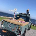 Hope Metcalfe on the 1955 Land Rover she and her dad Ben are travelling the length of the UK in