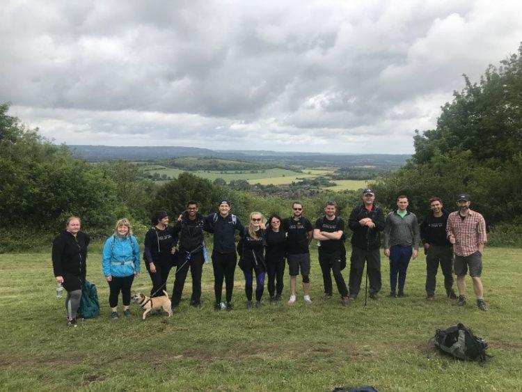 Teekay London team ready to take on a 80km hike across the South Downs