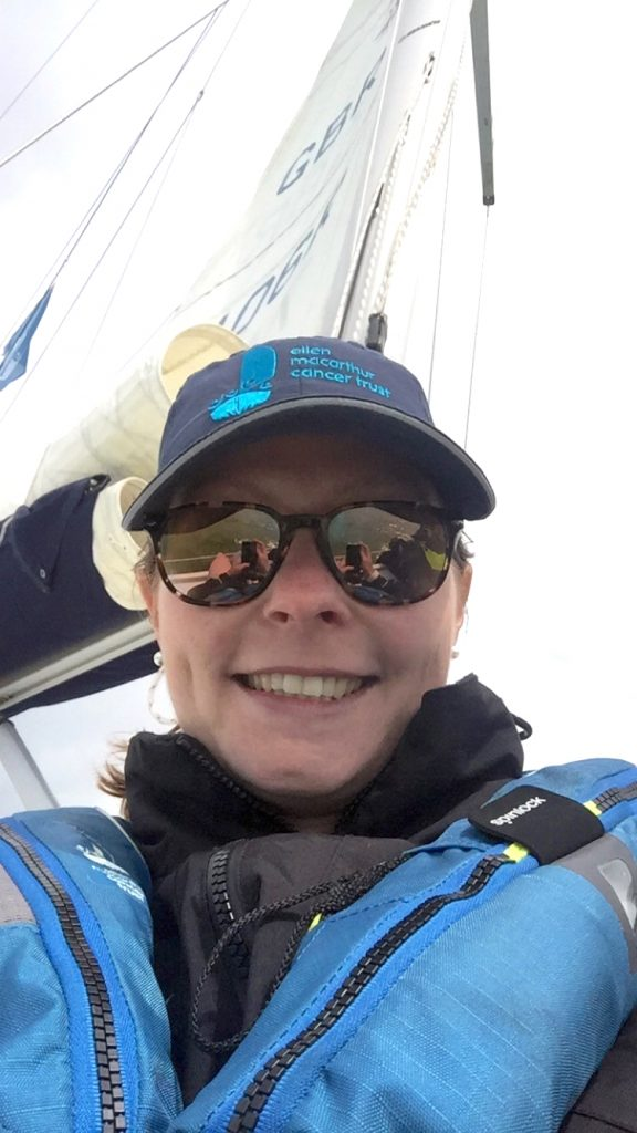 Musto's Sarah Read on a Day Sail in 2019